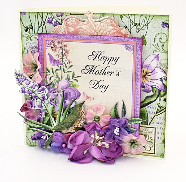 Mothers Day card, Time to Flourish, Maggi Harding, Graphic 45 (1)