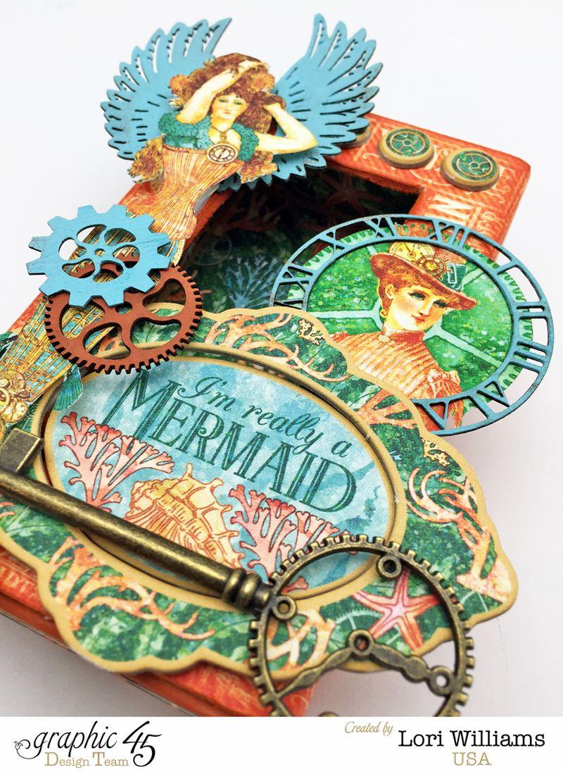 Voyage Beneath the Sea Curio Box by Lori Williams Designed for Graphic 45 photo 3