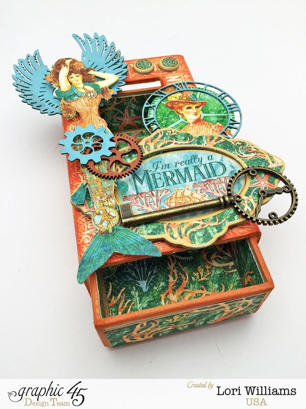 Voyage Beneath the Sea Curio Box by Lori Williams Designed for Graphic 45 photo 1