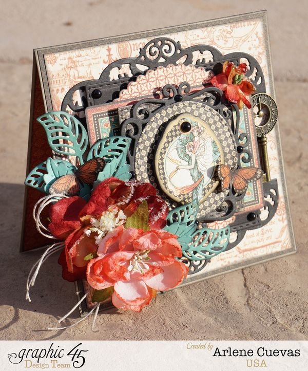 Card, Enchanted Forest, Arlene Cuevas, Product by Graphic 45, Photo1