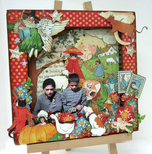 Mother Goose frame and tutorial from Einat Kessler! #graphic45