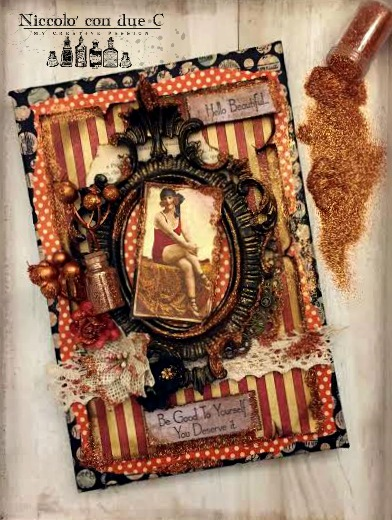 Vintage Canvas, Botanicabella, Tutorial by Nico Scrap, Product by Graphic 45, Photo 2
