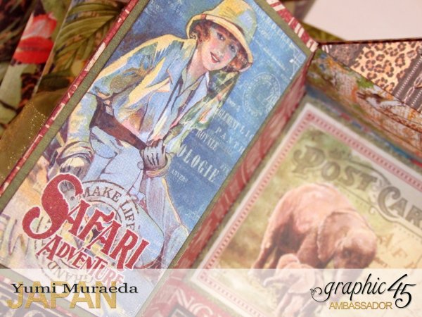 2Safari Park Ranger Office, Safari Adventure, by Yumi Muraeda, Product by Graphic 45.