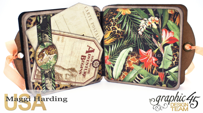 Tag Mini, Safari Adventures, Tutorial by Maggi Harding, Graphic 45 (5)