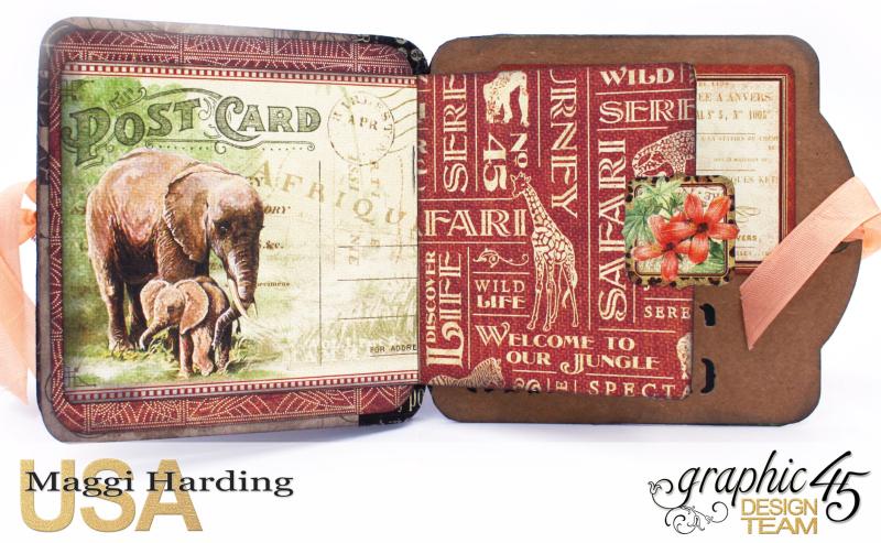 Tag Mini, Safari Adventures, Tutorial by Maggi Harding, Graphic 45 (8)