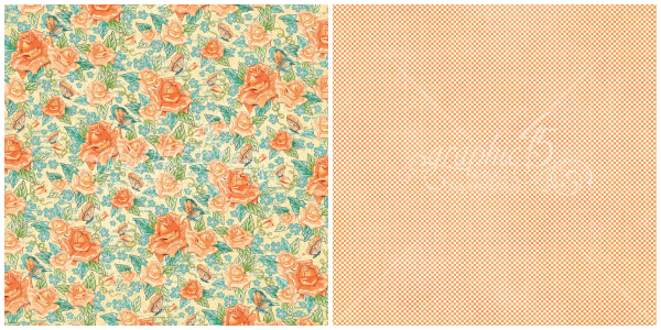 2 - Floral Souffle, a page from Cafe Parisian, a new collection from Graphic 45
