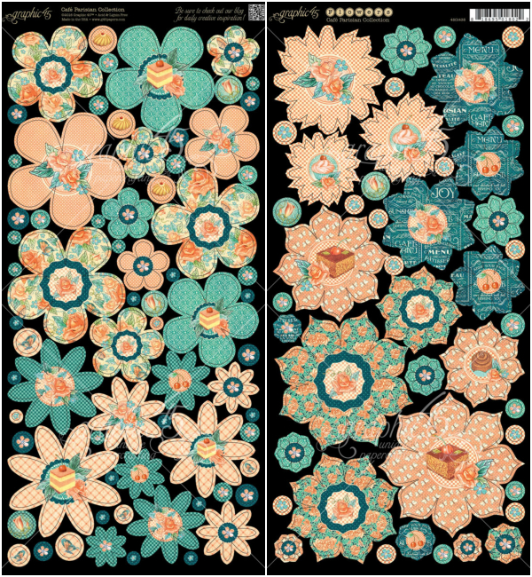 Cardstock Flowers from Cafe Parisian, a new collection from Graphic 45