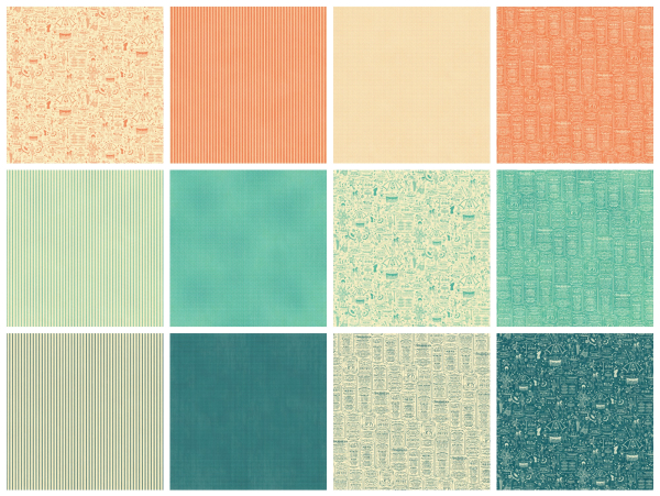 Patterns & Solids from Cafe Parisian, a new collection from Graphic 45
