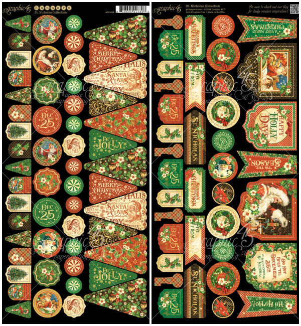 Cardstock Banners from St. Nicholas, a new collection from Graphic 45