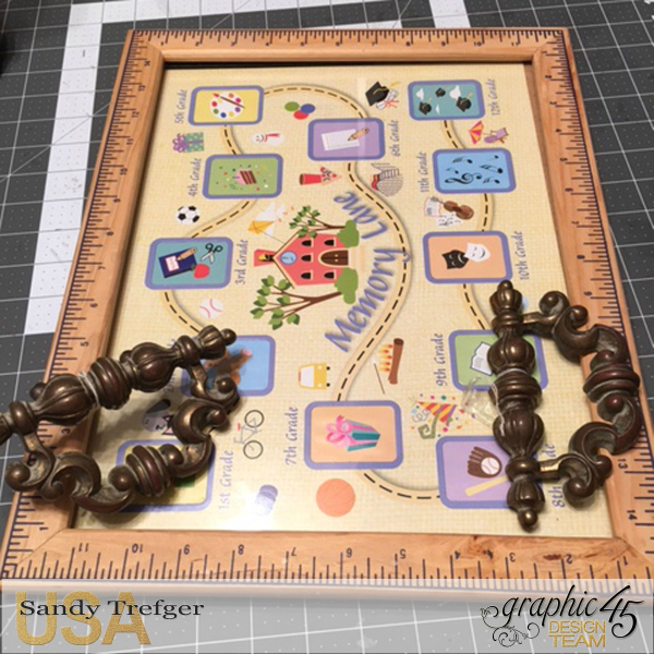Before of Upcycled Picture Frame Tea Tray, Staples DIY Craft Paper Curiosity Collage Butterflies, Tutorial by Sandy Trefger, Product by Graphic 45, Photo 6
