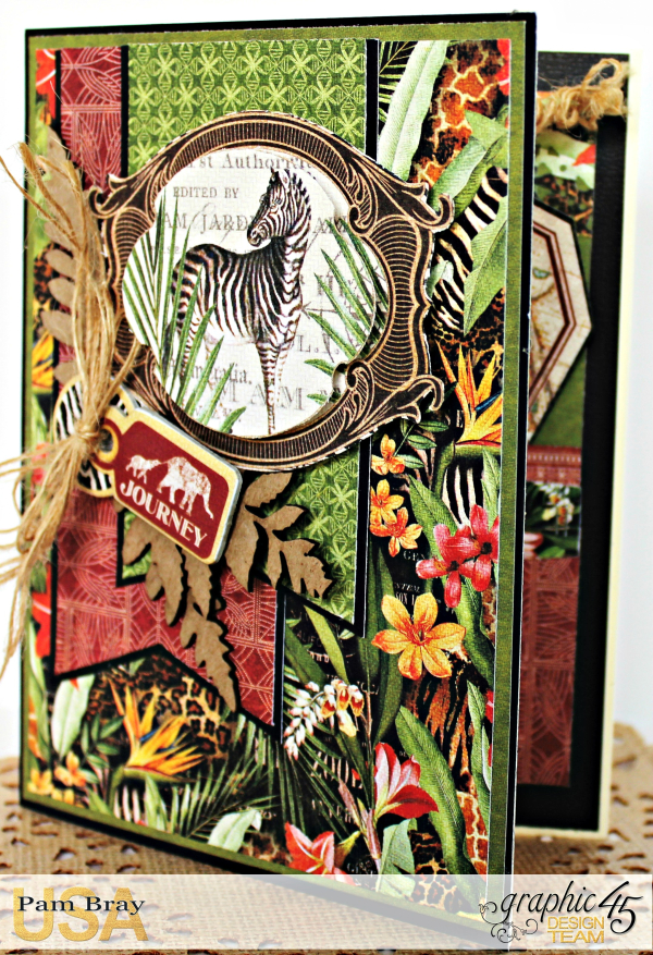 Journey Card, Safari Adventure Collection by Pam Bray, Product by Graphic 45, Photo 2_9926