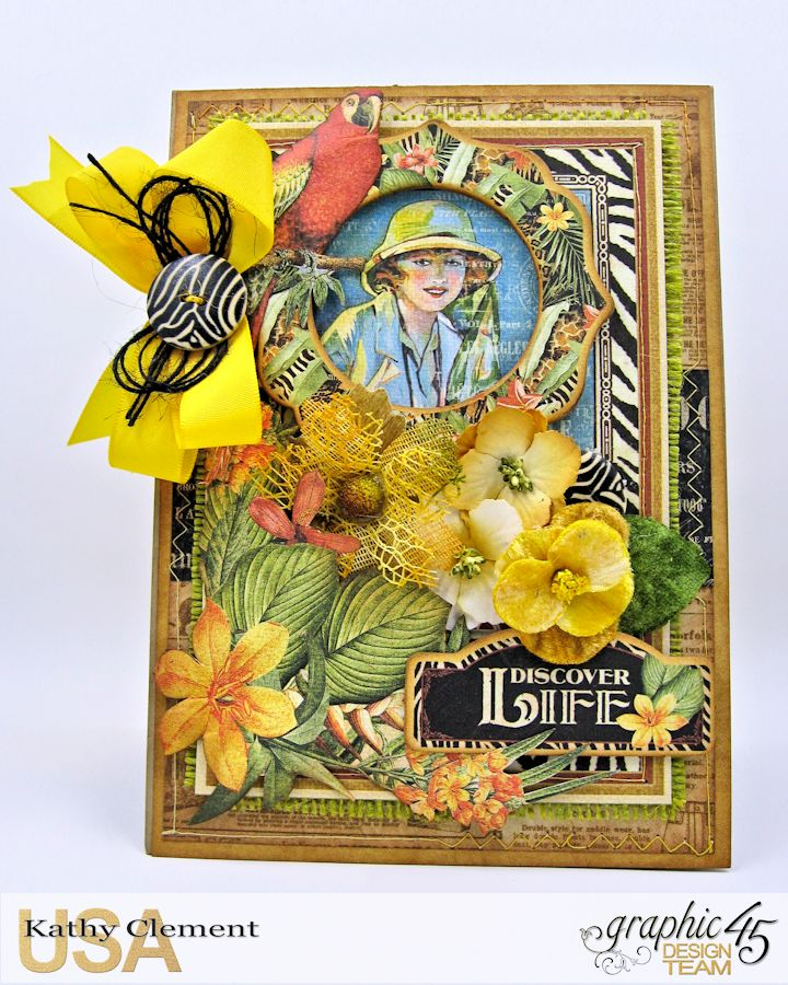Discover Life Pocket Card Snapguide Tutorial  by Kathy Clement Graphic 45 Safari Adventure Photo 3
