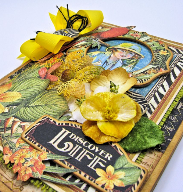 Discover Life Pocket Card Snapguide Tutorial  by Kathy Clement Graphic 45 Safari Adventure Photo 2