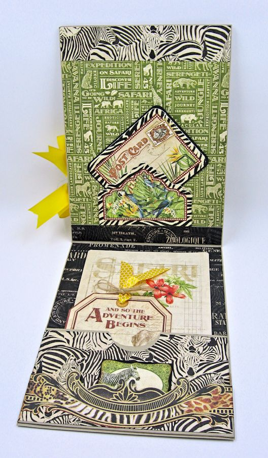 Discover Life Pocket Card Snapguide Tutorial  by Kathy Clement Graphic 45 Safari Adventure Photo 6