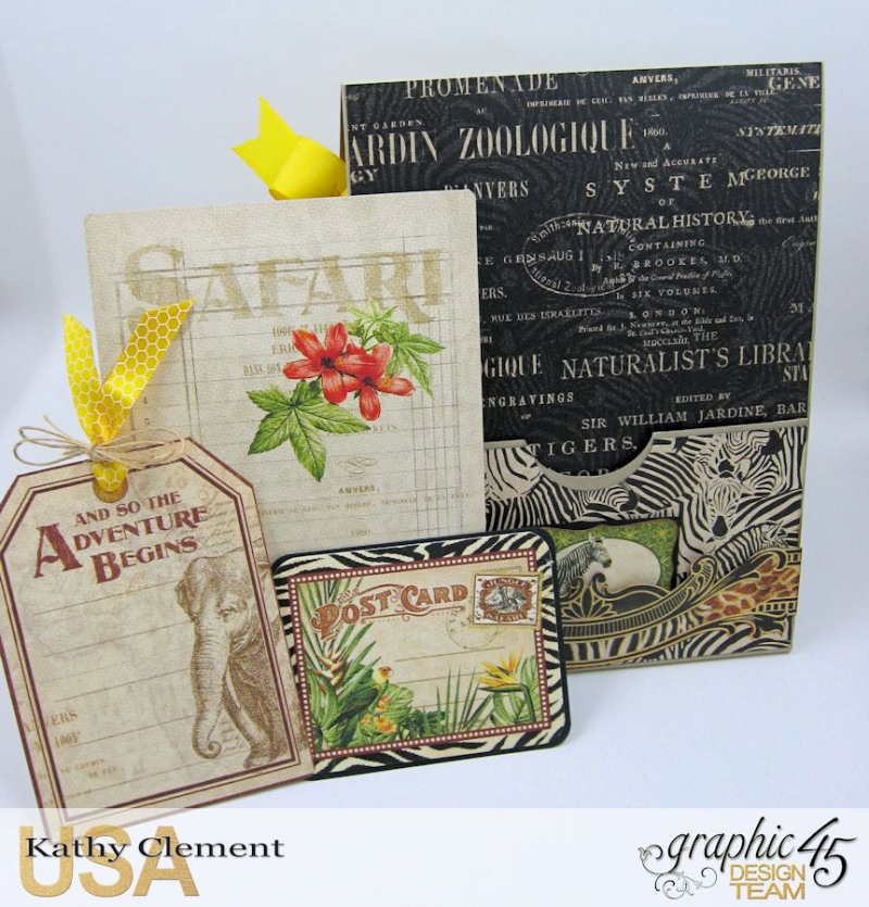 Discover Life Pocket Card Snapguide Tutorial  by Kathy Clement Graphic 45 Safari Adventure Photo 7