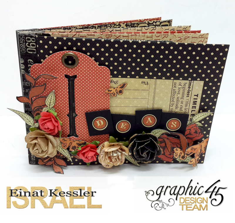 Washi Binding Mini Album, Staples, by Einat Kessler, Product by Graphic 45 photo 6