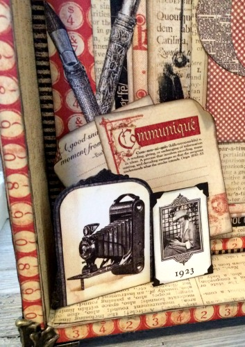 Letter Tray Upcycle, DIY Craft Rolls, Communique, Tutorial by Katelyn Grosart, Product by Graphic 45, Photo 2