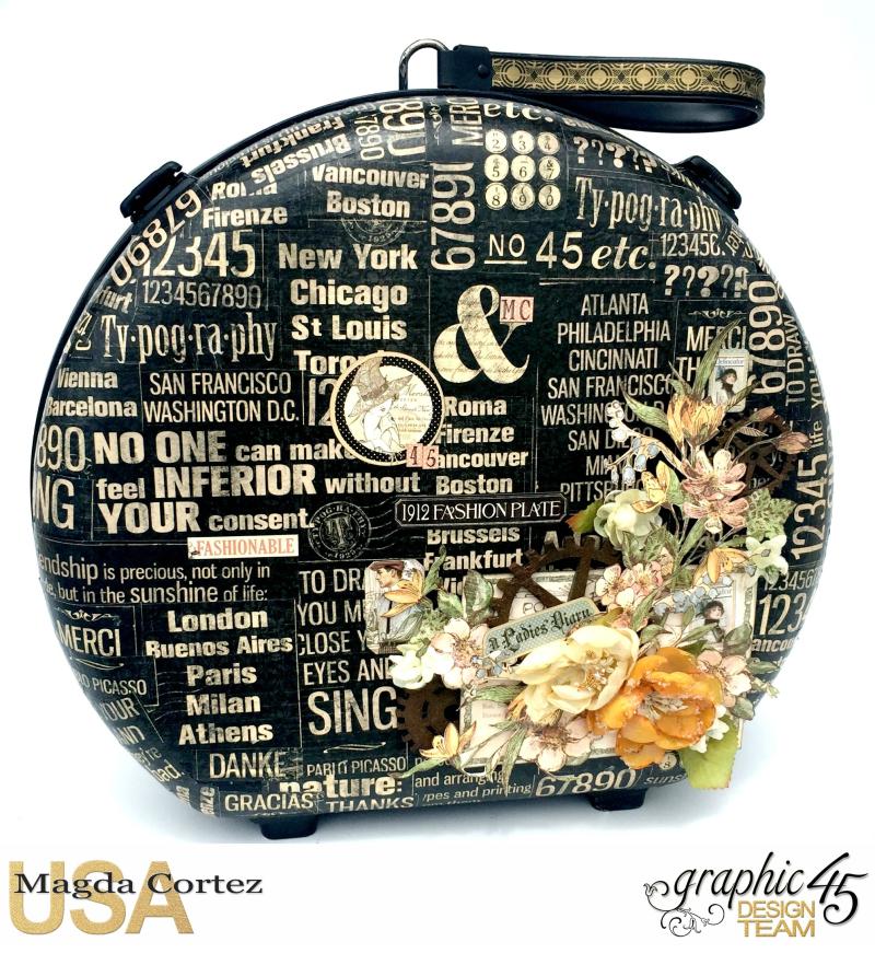 DIY Vintage Suitcase-A Ladies Diary- Magda Cortez - Graphic 45- Tutorial- 02 of 11