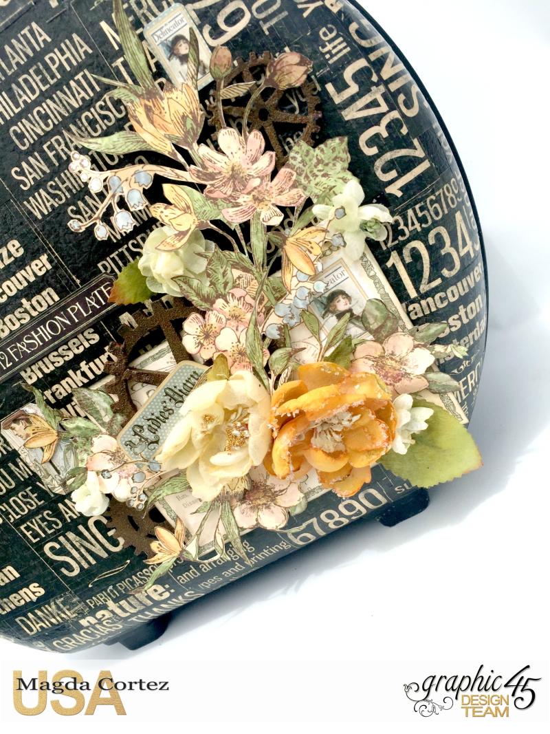 DIY Vintage Suitcase-A Ladies Diary- Magda Cortez - Graphic 45- Tutorial- 05 of 11