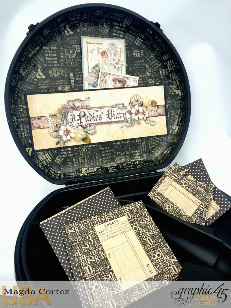 DIY Vintage Suitcase-A Ladies Diary- Magda Cortez - Graphic 45- Tutorial- 07 of 11