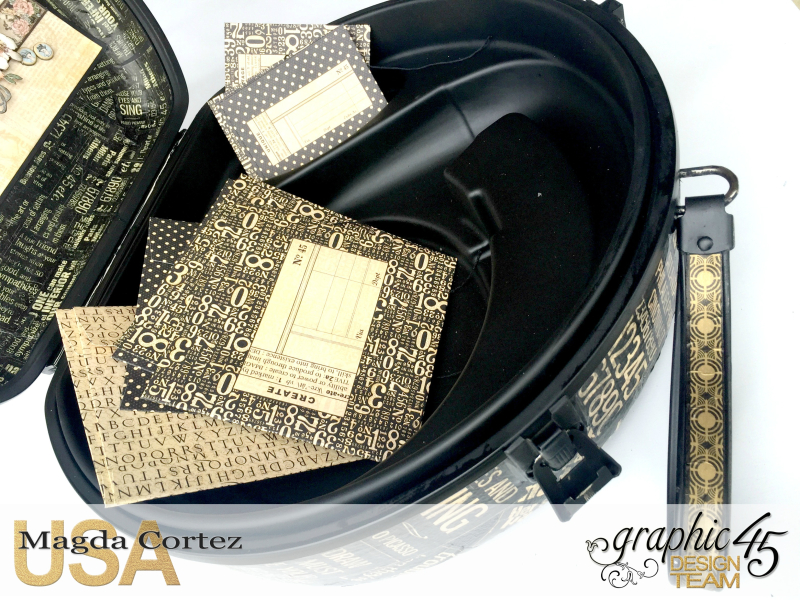 DIY Vintage Suitcase-A Ladies Diary- Magda Cortez - Graphic 45- Tutorial- 09 of 11
