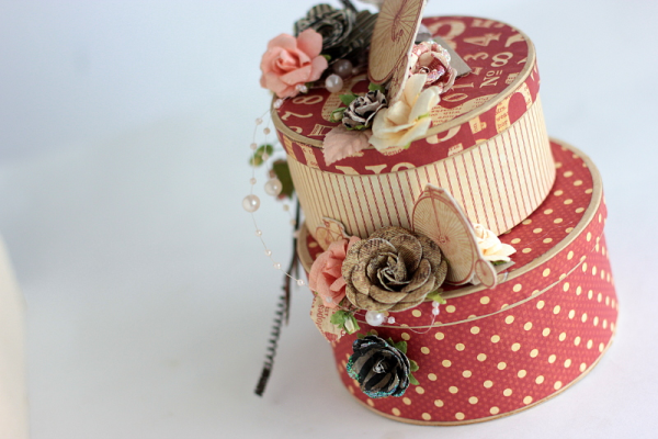 Elena's upcycled jewelry box with DIY Craft Rolls - click for tutorial! #graphic45