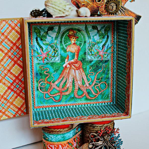 Graphic 45 The Sea is Calling Me Mini Album - Tutorial - Pam Bray 14_0648
