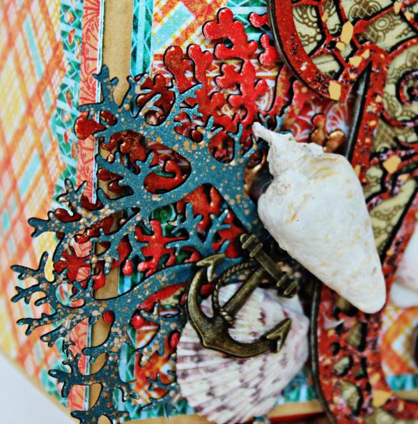 Graphic 45 The Sea is Calling Me Mini Album - Tutorial - Pam Bray 9_0639