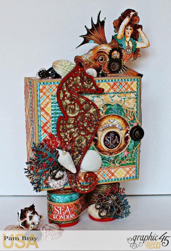 Graphic 45 The Sea is Calling Me Mini Album - Tutorial - Pam Bray 3_0630