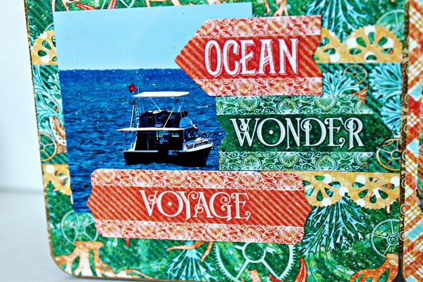 Graphic 45 The Sea is Calling Me Mini Album - Tutorial - Pam Bray 24_0658