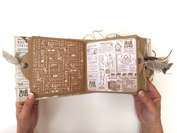 Square Tag&Pocket Travel Album Safari Adventure Tutorial by Marina Blaukitchen Product by Graphic 45 photo 14