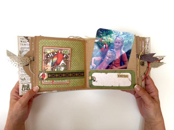 Square Tag&Pocket Travel Album Safari Adventure Tutorial by Marina Blaukitchen Product by Graphic 45 photo 18