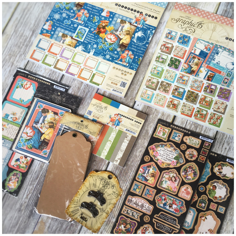 (1) $89 Children's Hour Paper Pads, Chip, 6x6, Embellishments, Staples Graphic 45