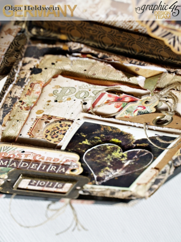 August assigment Olga Heldwein Safari Adventure pocket album in frame