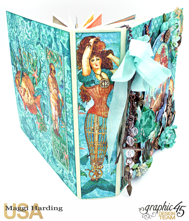 Mini, Voyage Beneath the Sea, cover tutorial, Maggi Harding, Graphic 45 (2)