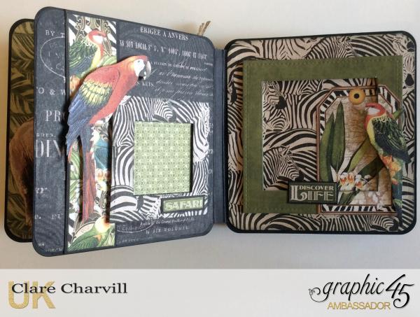 Safari Adventure Square Tag Album 10 Clare Charvill Graphic 45