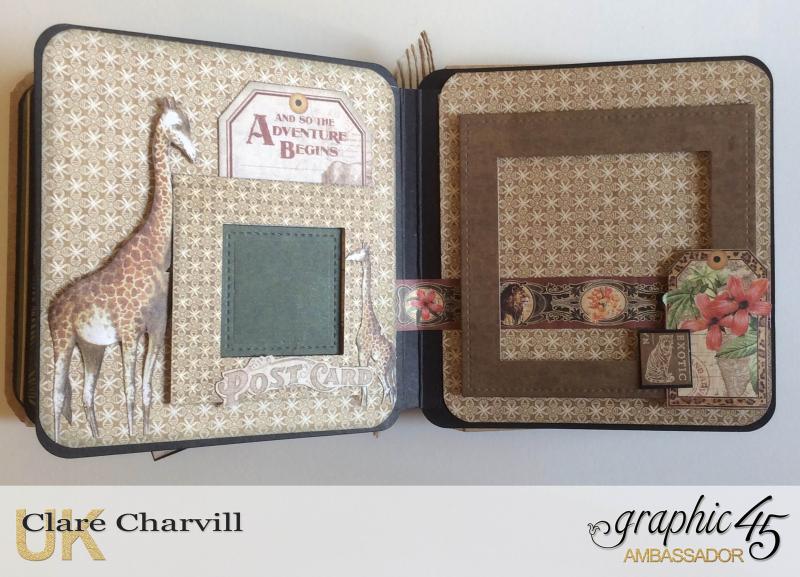 Safari Adventure Square Tag Album 11a Clare Charvill Graphic 45
