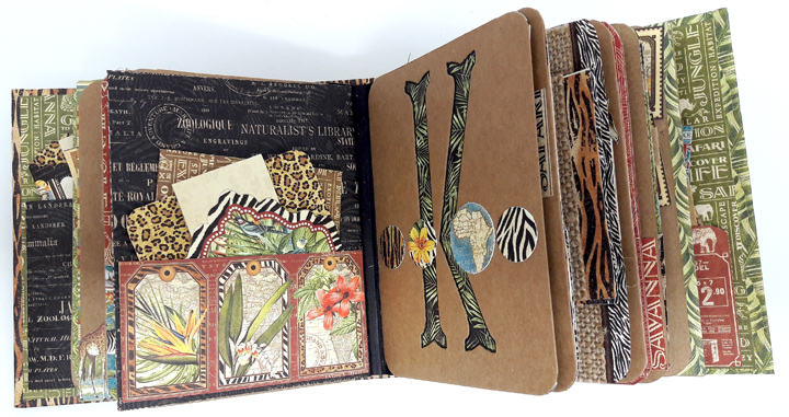 Jumbo Kenya Mini Album, Safari Adventure, by Einat Kessler,  product by Graphic 45, photo 4
