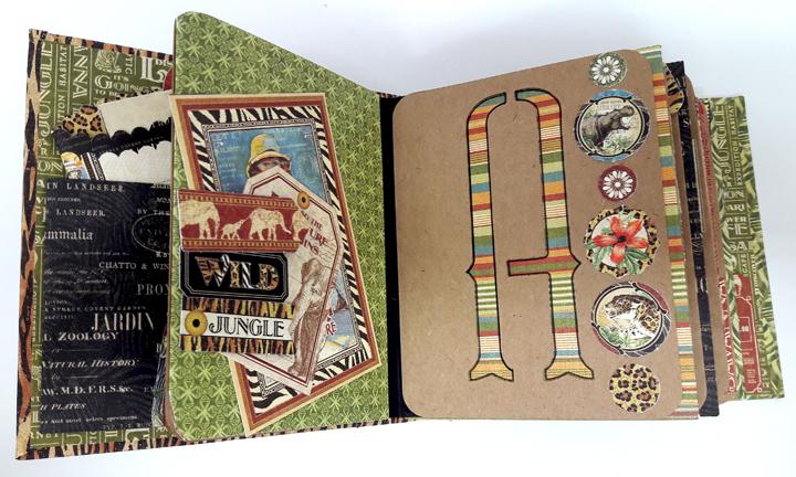 Jumbo Kenya Mini Album, Safari Adventure, by Einat Kessler,  product by Graphic 45, photo 5