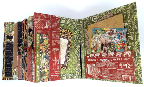 Jumbo Kenya Mini Album, Safari Adventure, by Einat Kessler,  product by Graphic 45, photo 3