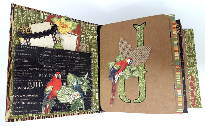 Jumbo Kenya Mini Album, Safari Adventure, by Einat Kessler,  product by Graphic 45, photo 6