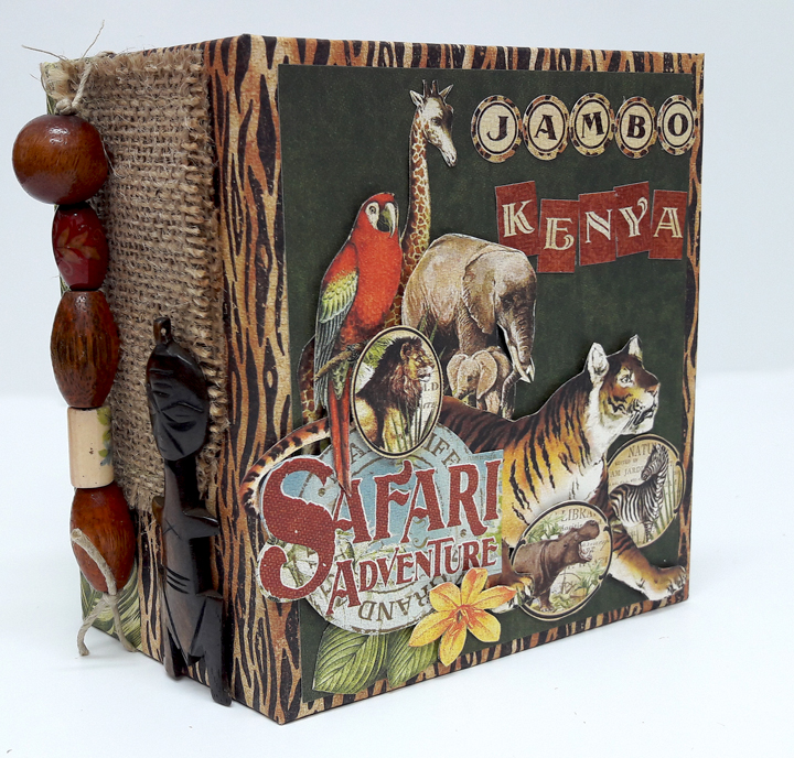 Jumbo Kenya Mini Album, Safari Adventure, by Einat Kessler,  product by Graphic 45, photo 8
