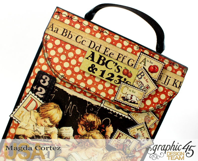 School Days Backpack Mini Album-An ABC Primer-By Magda Cortez-Product by Graphic45-06-11