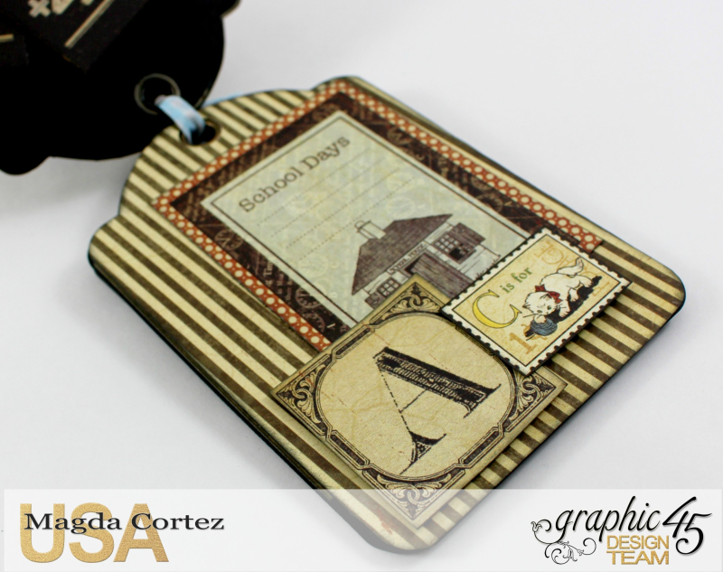 School Days Backpack Mini Album-An ABC Primer-By Magda Cortez-Product by Graphic45-08-11