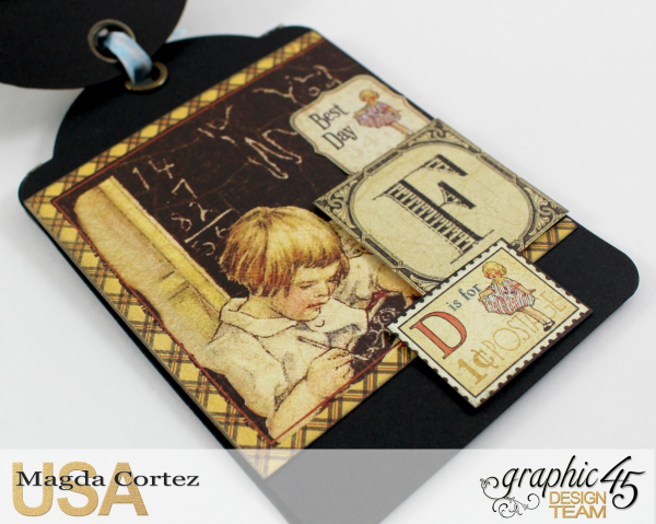 School Days Backpack Mini Album-An ABC Primer-By Magda Cortez-Product by Graphic45-04-11