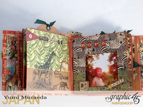 ILoveMeBookandToteBagGraphic45 Safari Adventure  by Yumi Muraeada Product by Graphic 45 12a