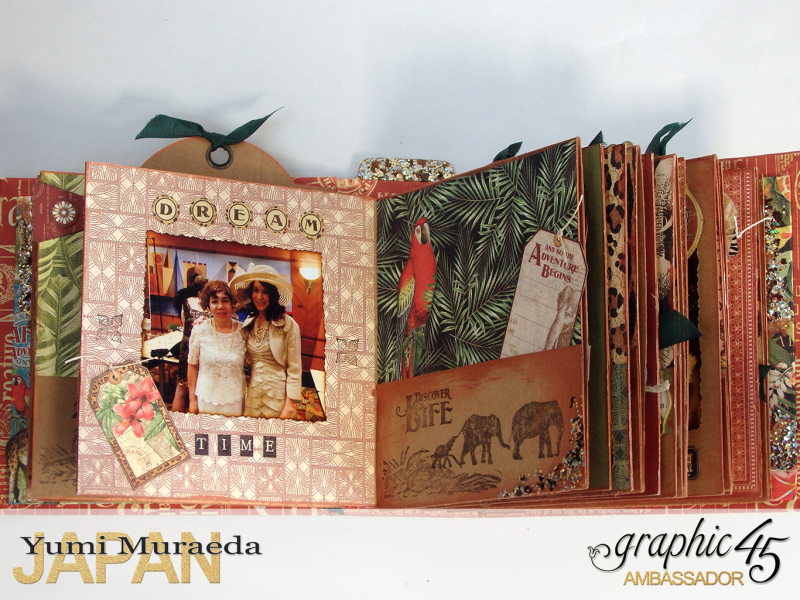 ILoveMeBookandToteBagGraphic45 Safari Adventure  by Yumi Muraeada Product by Graphic 45 5a
