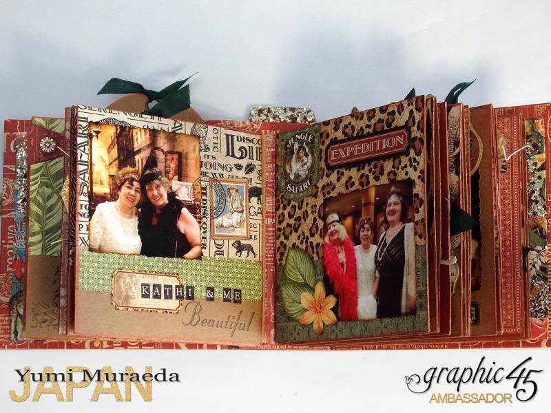 ILoveMeBookandToteBagGraphic45 Safari Adventure  by Yumi Muraeada Product by Graphic 45 7a