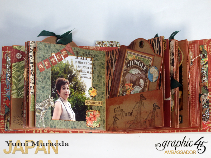 ILoveMeBookandToteBagGraphic45 Safari Adventure  by Yumi Muraeada Product by Graphic 45 8a