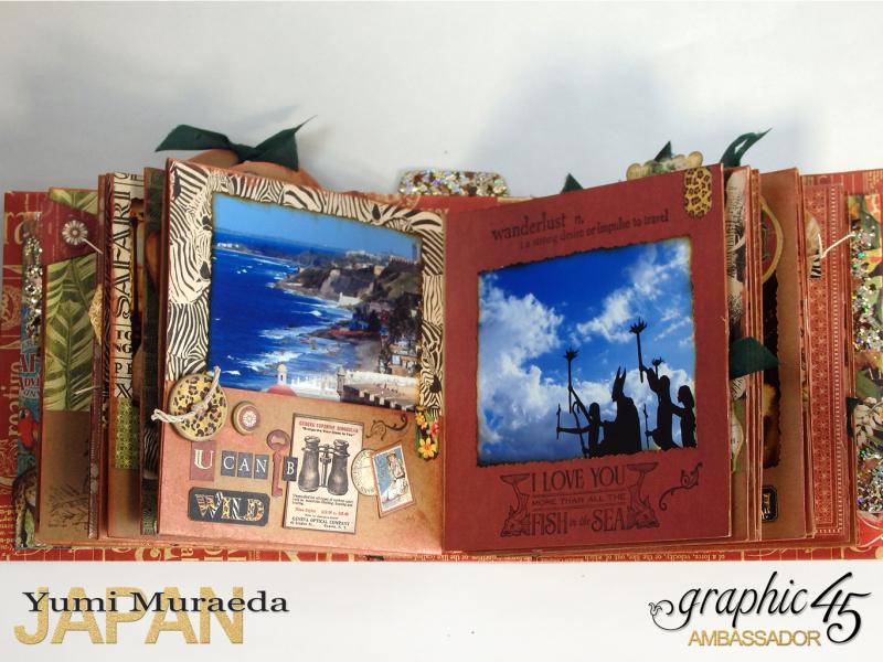 ILoveMeBookandToteBagGraphic45 Safari Adventure  by Yumi Muraeada Product by Graphic 45 9a